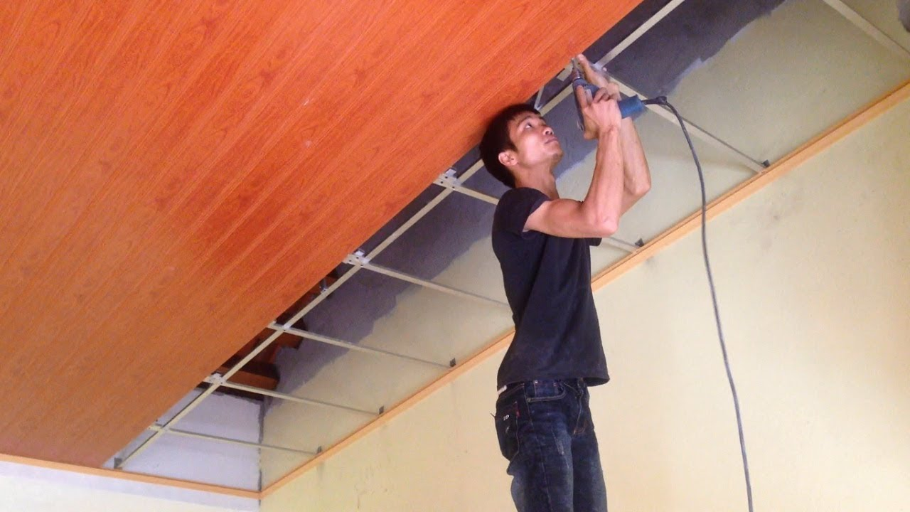 How To Install Plastic Panels On The Ceiling Easy Installation Pvc Panel