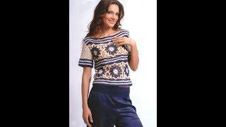 Вязаные Крючком Женские Летние Кофты, Топы, Майки - 2018 / Knitted Crochet Women's Summer Tops Miki
