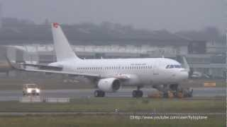 Airbus first A319 with sharklets D-AVWC was pulled into Finkenwerder Delivery Center - 13.11.2012