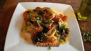 Linguine & Chorizo With A Tomato Garlic Sauce Recipe