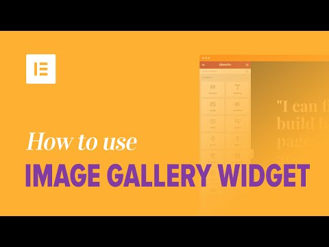 How to Use Image Gallery Widget on Elementor Page Builder Plugin
