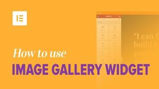 Як використовувати віджет галереї зображення на Факір плагін творець сторінки