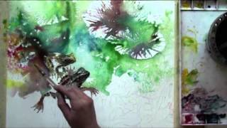 Watercolor with Lian Quan Zhen: Frogs in the Pond Preview