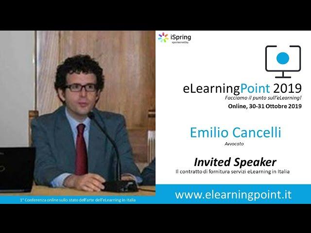 eLearningPoint 2019 - Intervento dell'Avv. Emilio Cancelli