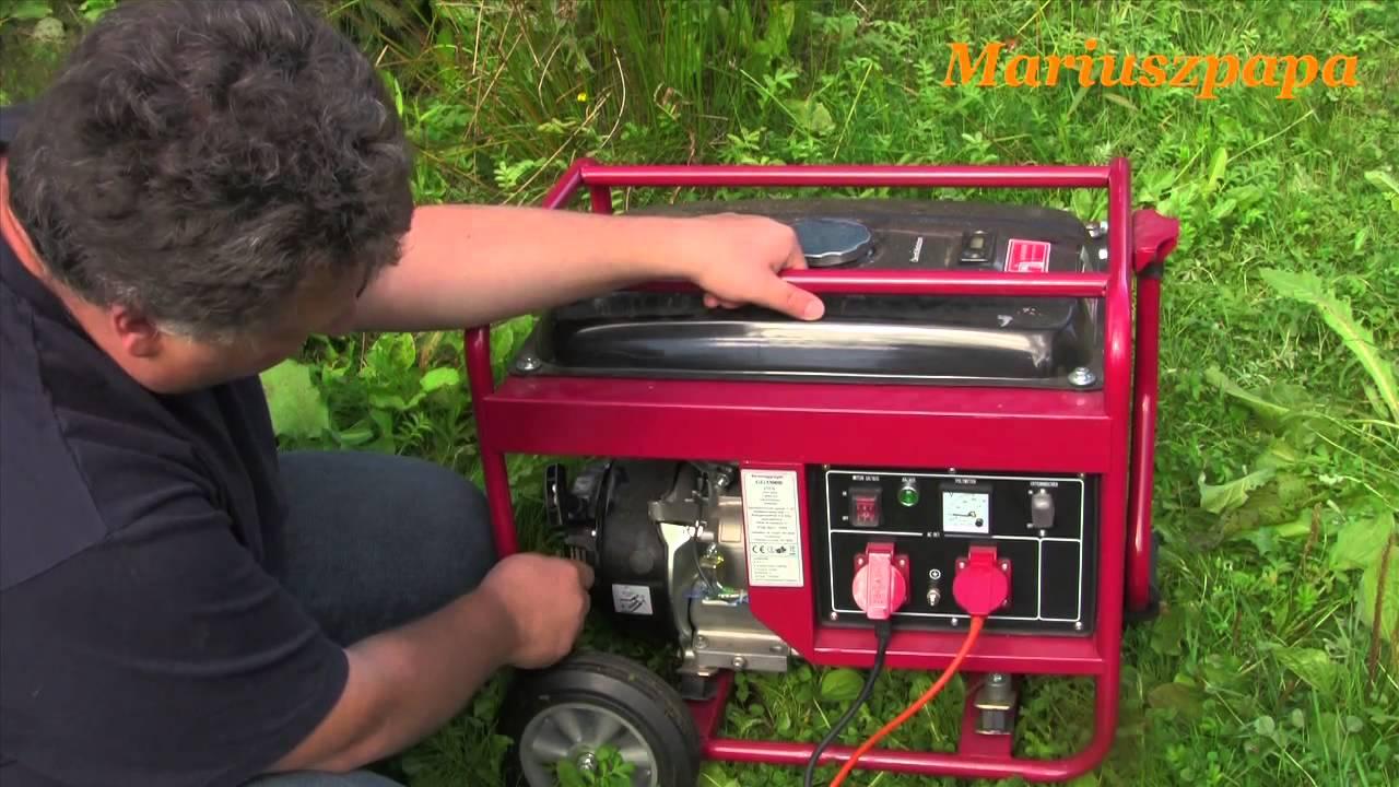Nowość Test - agregat prądotwórczy Kraft 3000 W . Moc silnika 7 KM - YouTube CM15