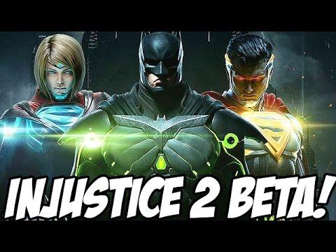 LETS PLAY INJUSTICE 2!! - Injustice 2: Online Beta Gameplay (Superman, Supergirl, Atrocitus, Batman)