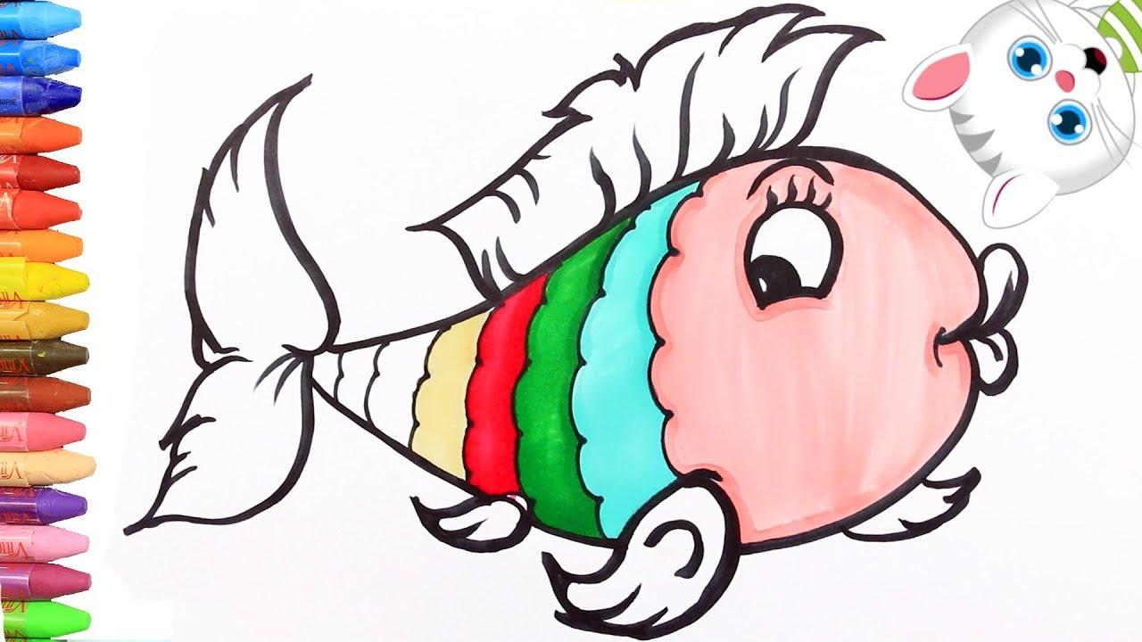Cara Menggambar Ikan Berwarna Warni Dengan MiMi Cara