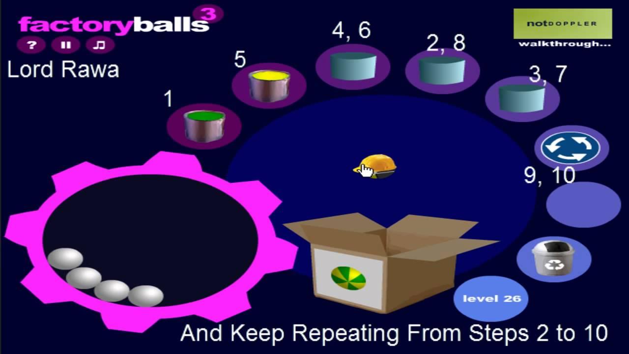 Factory Balls 3 Walkthrough - Levels 21-30 - YouTube