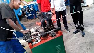 HXE-400/13DL Aluminium rod breakdown machine in Tanzania (6)
