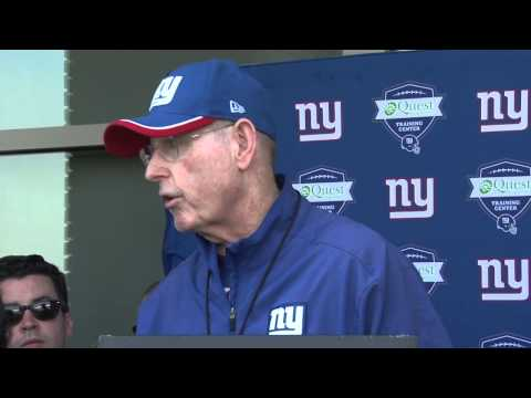 Coughlin talks about former Giant defensive end star Andy Robustelli
