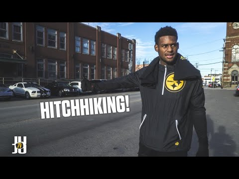 JuJu Smith-Schuster Hitchhikes a Ride from a Stranger