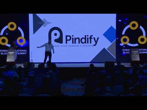Christoffer Wallin Founder & CEO of Pindify at Dubai International Blockchain Summit 8 Jan 2018