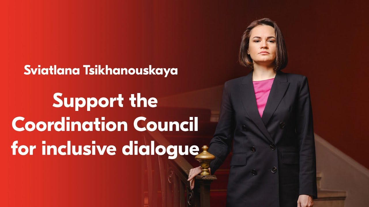 Sviatlana Tsikhanouskaya calls to support the Coordination Council for inclusive dialogue in Belarus