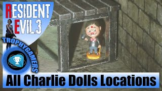 Resident Evil 3 Remake - All Charlie Dolls Collectible Locations (Bobbleheads)