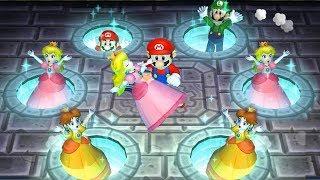 Super Mario Party: 9 Garden Battle - Peach vs Daisy vs Mario vs Luigi Master Difficulty