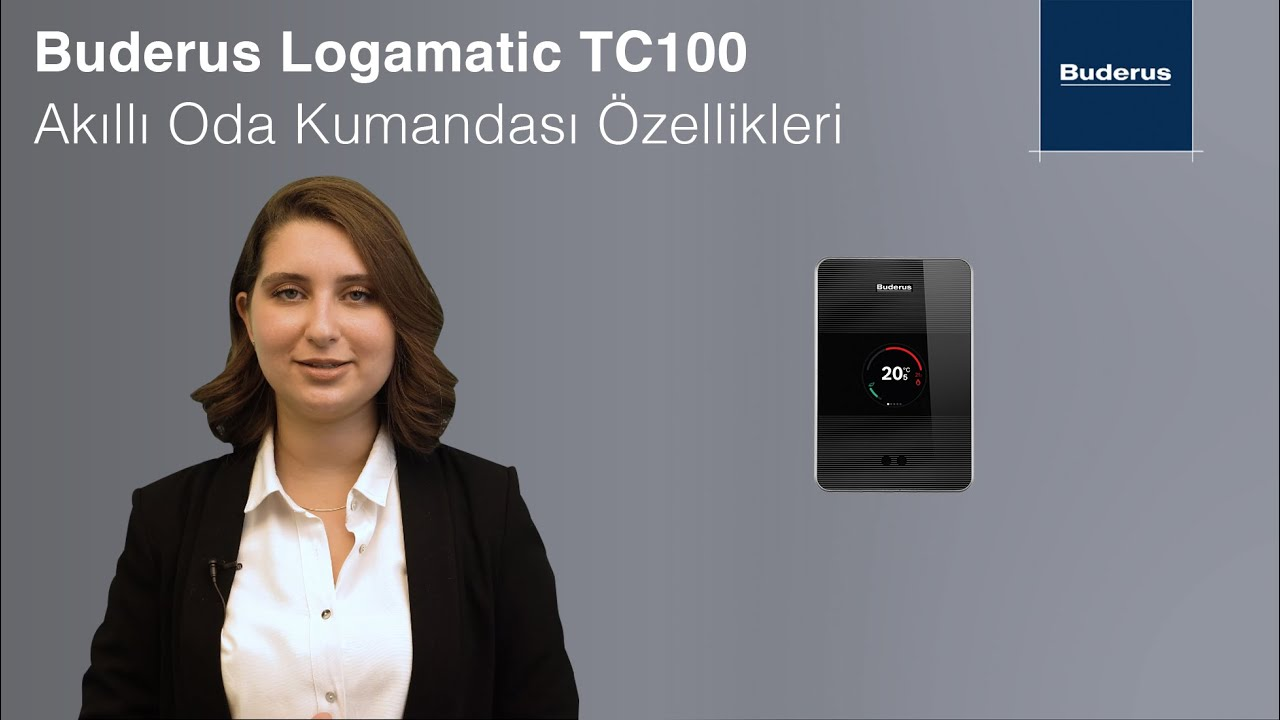Buderus Logamatic TC100 Akıllı Oda Termostatı Özellikleri