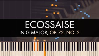 Frédéric Chopin - 3 Ecossaises, No. 2 in G Major, Op. Posth. 72, No. 3 (Synthesia)