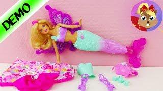 芭比娃娃 Barbie 三合一 换装功能变身 美人鱼 公主 仙女魔法 Dreamtopia 玩具套装
