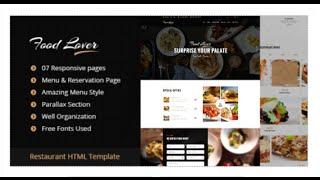 Food Lover Restaurant HTML Template by egprojets | ThemeForest Download Mp3
