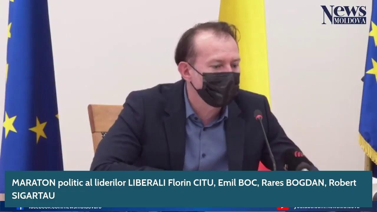 MARATON politic al liderilor LIBERALI Florin CITU, Emil BOC, Rares BOGDAN, Robert SIGARTAU