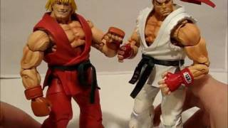 Neca Street Fighter Ryu Ken Action Figures Video Review Youtube