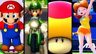Super Mario Sports ALL MEGA MUSHROOMS 2002-2015 (Wii U, Wii, GC)