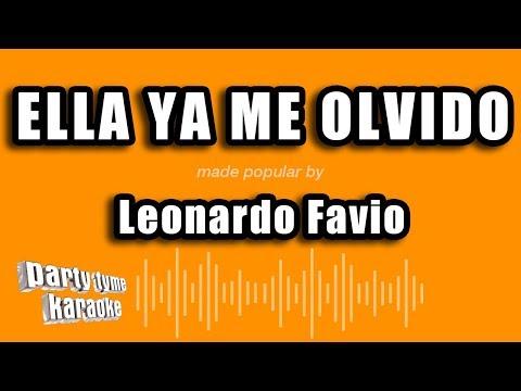 Leonardo Favio - Ella Ya Me Olvido (Versión Karaoke)