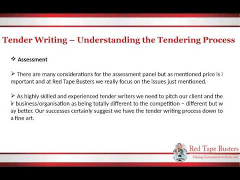 Tender Writing – Understanding the Tendering Process