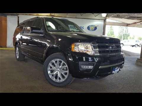 Black 2017 Ford Expedition Max Limited 4x4 Review Prince George BC