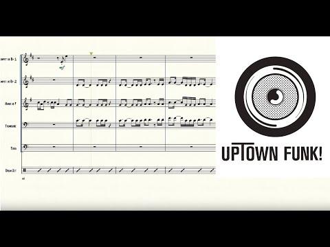 Uptown Funk for Brass Quintet Sheet Music