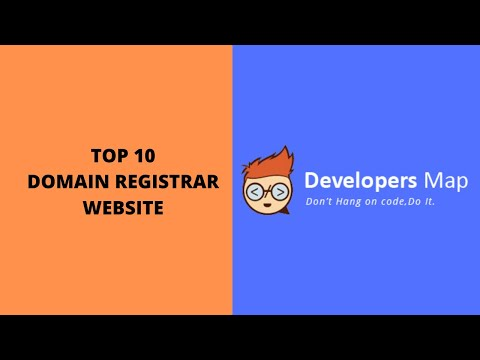 Top 10 Domain Registrar Website in India by Developers Map