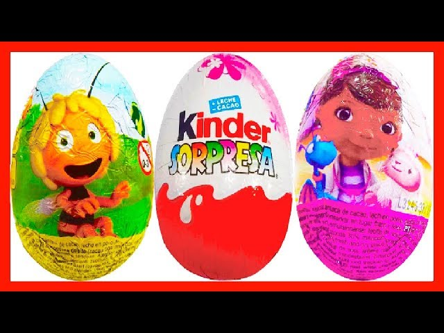 3 HUEVOS SORPRESA,DOCTORA JUGUETES,LA ABEJA MAYA Y PRINCESAS DISNEY COLECCIÓN 2014. KINDER SURPRISE Travel Video