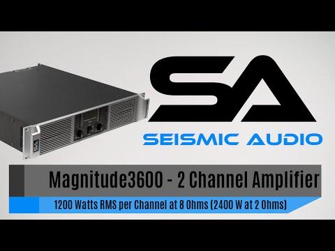 Seismic Audio Magnitude 3600 Power Amp (Official)