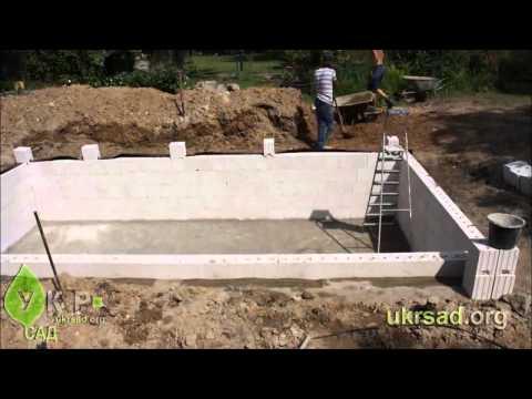 видео: Все этапы создания плавательного пруда