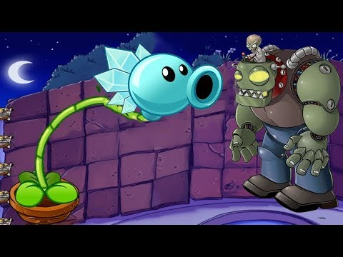1 Dr. Zomboss vs 1 Snow Pea Challenge Plants vs Zombies