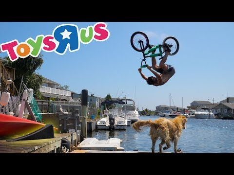 BACKFLIPPING THE SMALLEST TOYS R US RAMP! (BMX)