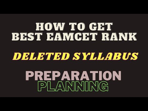 How To Get Best Eamcet Rank |TS EAMCET|AP EAMCET|DELETED SYLLABUS|PREPARATION PLANNING|ROOT ACADEMY