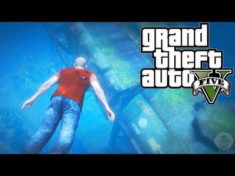 GTA 5: Secret Underwater $25,000 Briefcase Location! Hidden Money Package Spot (Grand Theft Auto V)