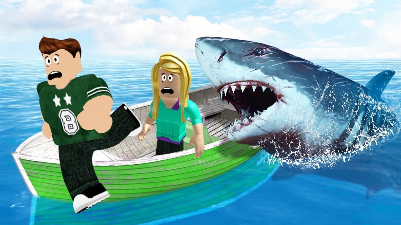 Flee From The Angry Shark Roblox Youtube