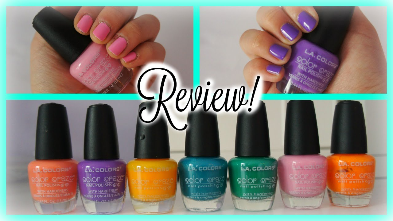 LA Colors Nail Polish Review + Demo! - YouTube