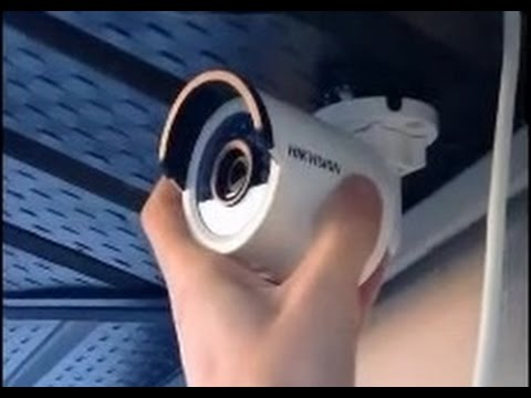 HIKVISION Bullet PoE IP Camera Installation Guide DS-2CD2032-I - YouTube
