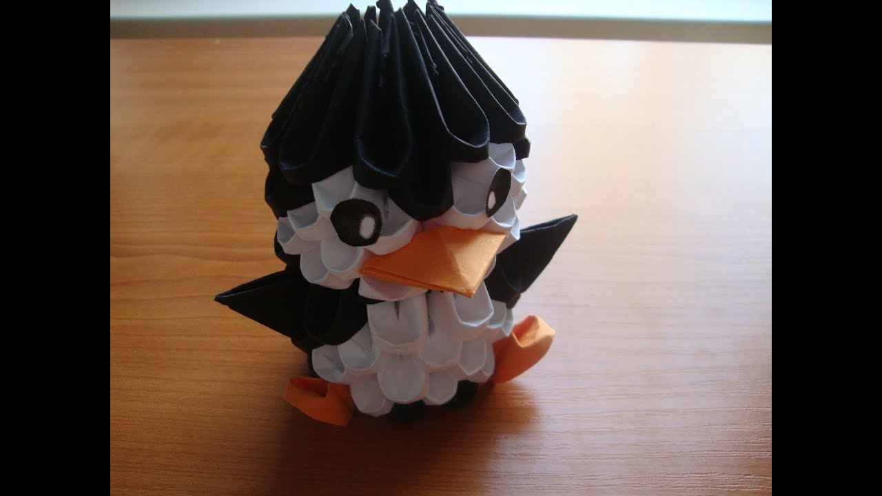 3D origami penguin tutorial - YouTube - photo#29