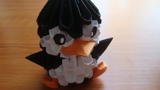3D origami penguin tutorial