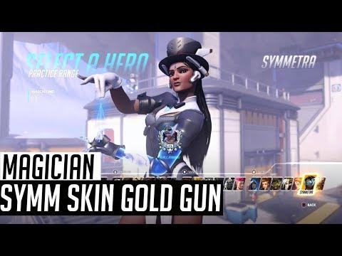 Symmetra Magician Skin With Golden Gun (In-Game Showcase) Overwatch