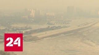 Хабаровский край окутало густым дымом из-за пала сухой травы - Россия 24