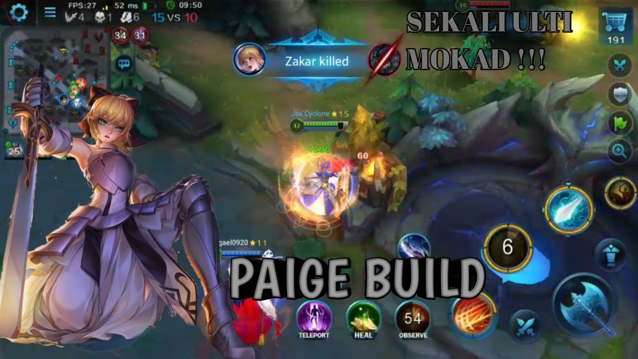 Heroes Evolved New Hero Paige – SABER [Fate/Stay Night] in Moba, Excalibur Moontage 200 IQ Gameplay