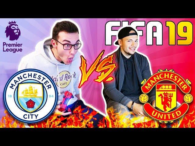 Man City VS ManU FIFA 19 FUSSBALL CHALLENGE!