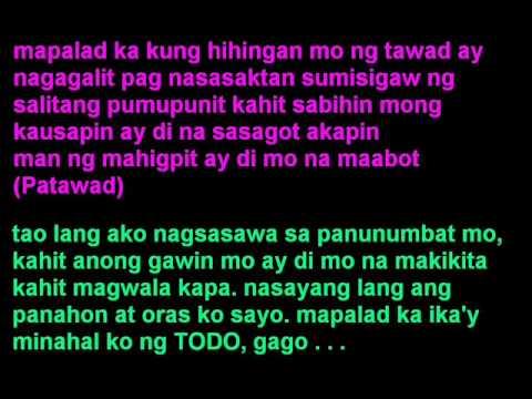 kasalanan - 6 cycle mind feat.gloc 9 w/lyrics