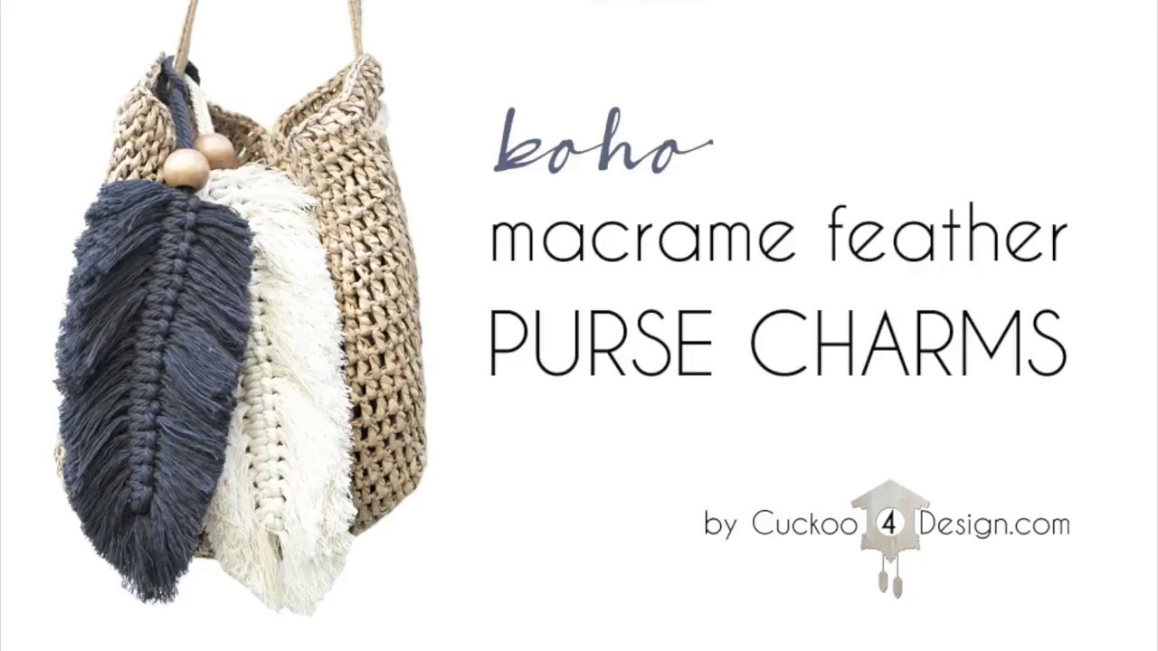 Macrame Key Chain Macrame Purse Charm