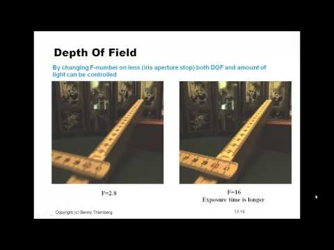 Lecture in Machine Vision - Lens system, part II